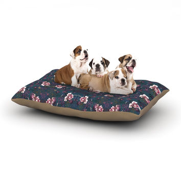 "DLKG Design ""Cool Stitch"" Purple Navy Dog Bed"