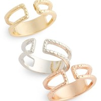 Women's Topshop Split Band Rings - Gold Multi (Set of 3)