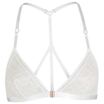 Geometric Mesh Triangle Bra - Lingerie - Clothing