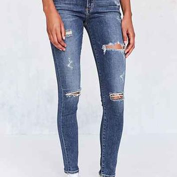 AGOLDE Sophie High-Rise Distressed Skinny Jean - Kansas City - Urban Outfitters