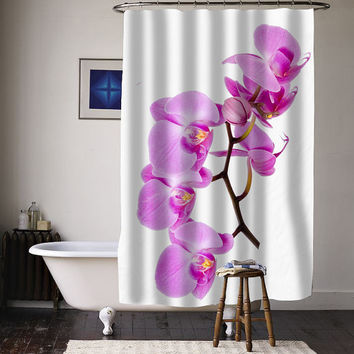 Flower beautiful pink orchid special custom shower curtains available size