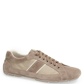 Prada Low Profile Suede and Nylon Sneaker