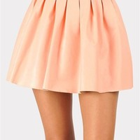 Bad To The Bone Leather Skirt - Peach at Necessary Clothing