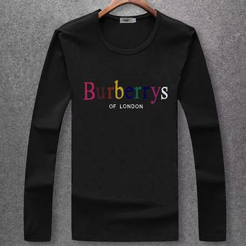 Boys & Men Burberry Fashion Casual Top Sweater Pullover