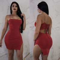 Bandage Bodycon Sleeveless Evening Party Club Short Mini Dress