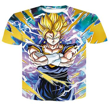 Dragon Ball Z T-Shirt Men Anime T Shirts 3D Print Goku/Gohan/Goten/Vegeta/Master Roshi Tee Shirt Fashion Summer Harajuku Tops