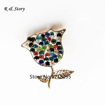 Snap Jewelry Christmas Rose Flower Silver Plating Custom Snap Button Fashion 2017