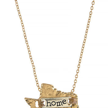 Texas Home Necklace