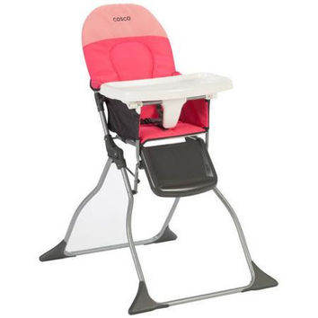Cosco Simple Fold High Chair - Colorblock Coral - HC225DYI
