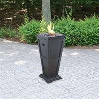 SheilaShrubs.com: UniFlame LP Gas Outdoor Fireplace - Medium GLT1332SP by Blue Rhino : Fire Pits