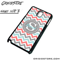 Chevron Tiffany Blue Coral Type Your Name Case For Samsung Galaxy Note 3 Case