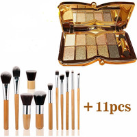 Eyeshadow Palette and Makeup Brush Set
