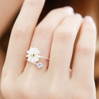 Cute Stretch Daisy Flower Ring