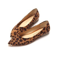 LUCLUC Suede Leopard Flat Shoes - LUCLUC