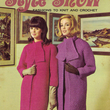 1950s Vintage Sewing Pattern Knitting Booklets Coats & Clark's Socks Mittens Sweaters Dress Crochet Instructions 4 Books