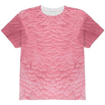 LMFCY8 Halloween Pink Flamingo Costume All Over Youth T Shirt