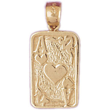 14K GOLD GAMBLING CHARM - PLAYING CARD #5449