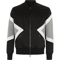 Neil Barrett Diamond Neoprene Bomber Jacket