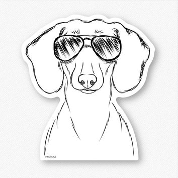 Hans the Dachshund - Decal Sticker