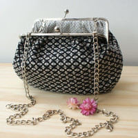 Black&Grey fabric clutch