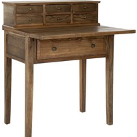 Abigail Fold Down Desk Oak