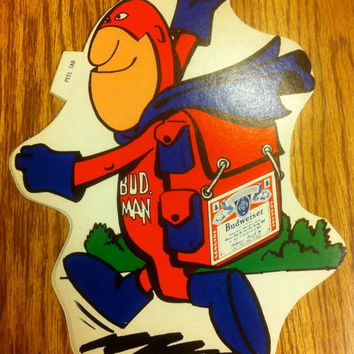 Budweiser Bud Man Backpacking Camping Sticker RESERVED