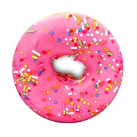 Expanding Stand COMBO Package includes Pop Clip Mount for Smartphones and Tablets, Pink Donut