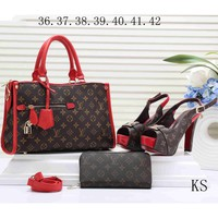 GUCCI 2018 new elegant female hipster brand trendy high quality three-piece F-KSPJ-BBDL red