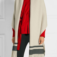 Isabel Marant - Fringed striped cashmere scarf