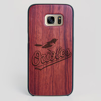 Baltimore Orioles Galaxy S7 Edge Case - All Wood Everything