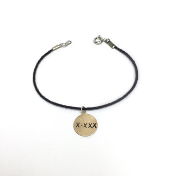 Hand Stamped Bracelet Friendship Bracelet Dainty and Simple Engraved Bracelet