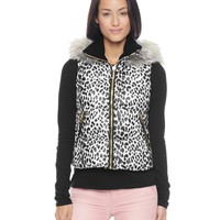 Leopard Print Puffer Vest by Juicy Couture