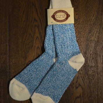Wool Hiking Socks - Sky Blue Marl
