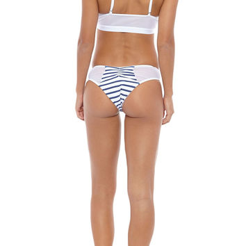Portofino Cheeky Bikini Bottom - Stripes