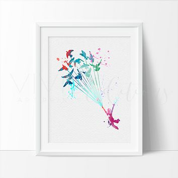 Little Prince 5 Watercolor Art Print