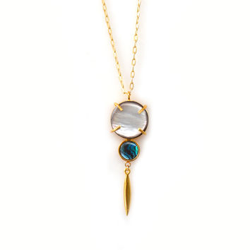Sofrana Pendant with Abalone and Pearl