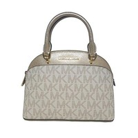 MICHAEL Michael Kors EMMY Women's Shoulder Handbag SMALL DOME SATCHEL (Vanilla/gold) Michael Kors bag