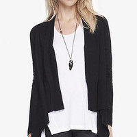 CASCADING RIBBED TRIM COVER-UP from EXPRESS