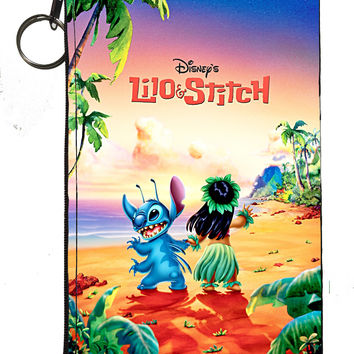 "Disney's Lilo & Stitch Zipper Pouch 8"" x 4"""