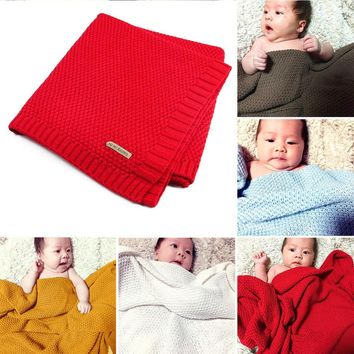 Infant Woolen Organic Cotton Knitted Kids Blanket