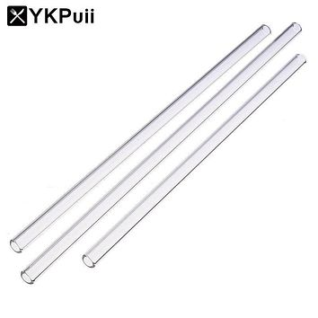Reusable Wedding Birthday Party Clear Glass Drinking Straws Thick Straws Barware Tube Bar Tools
