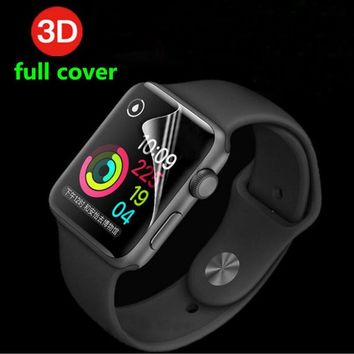 3D Anti-Shock TPU (Not Glass) Full Coverage Protective Film For iwatch Apple Watch Series 1/2/3 38mm 42mm Screen Protector Cover