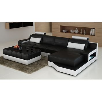 Luxury Contemporary Modern Ferrara Living room furniture Sofa L shape sectional sofa
