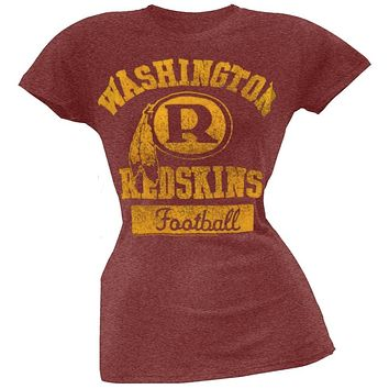 Washington Redskins - Vintage Flock Logo Juniors T-Shirt