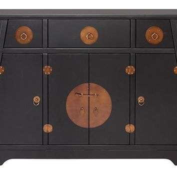 Wuchow Cabinet - Decorative Cabinets - Storage Cabinet - Chinoiserie Cabinet - Asian-style Furniture | HomeDecorators.com