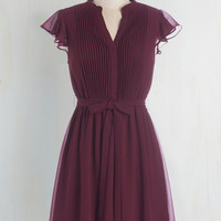 Scholastic Mid-length Cap Sleeves A-line Thesis, That, and the Other Thing Dress