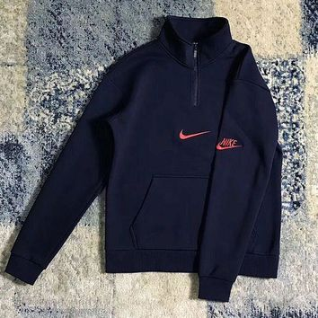 Nike Pullover Unisex With Pocket Long Sleeve Hoodies G