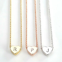 Custom Initial Heart Necklace