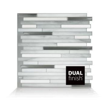 Smart Tiles Capri Carrera 9.88 in. W x 9.70 in. H Peel and Stick Decorative Mosaic Wall Tile Backsplash SM1070-1 at The Home Depot - Mobile