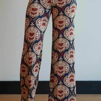 Dollop of Damask Print Palazzos - Plus Sizes!